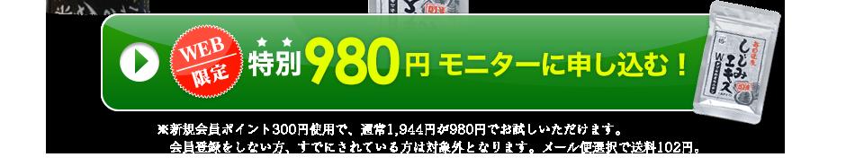 WEB限定 特別980円モニターに申し込む